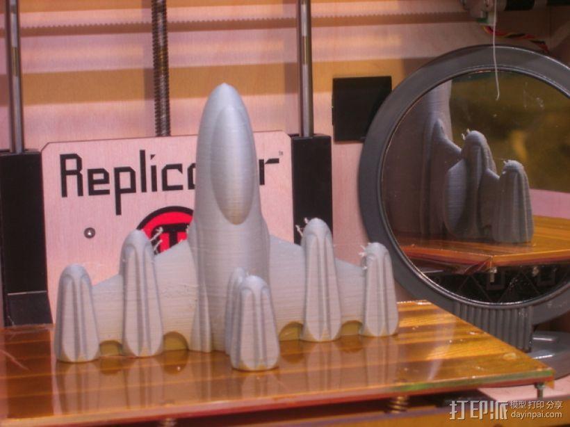反推进火箭009 3D打印模型渲染图
