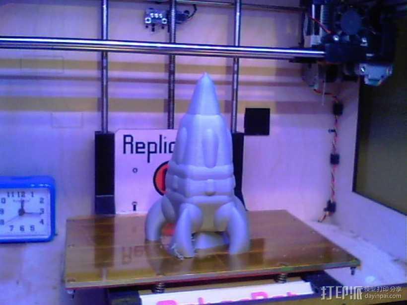 反推进火箭007 3D打印模型渲染图
