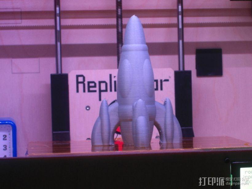 反推动火箭004 3D打印模型渲染图