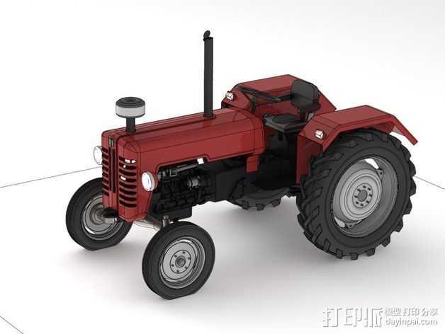 D326拖拉机 3D打印模型渲染图