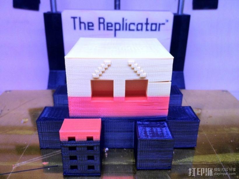 Blocktopus机器人 玩偶 3D打印模型渲染图