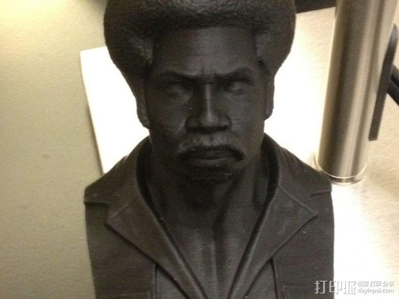 电影《黑色炸药》主角半身像 3D打印模型渲染图