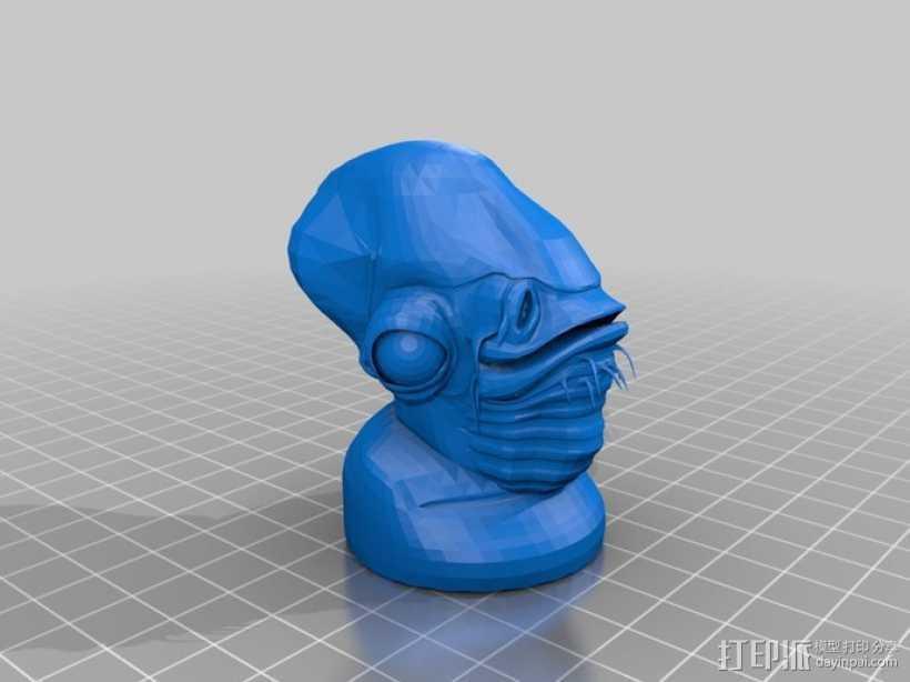 《星球大战:绝地归来》 阿克巴上将 3D打印模型渲染图