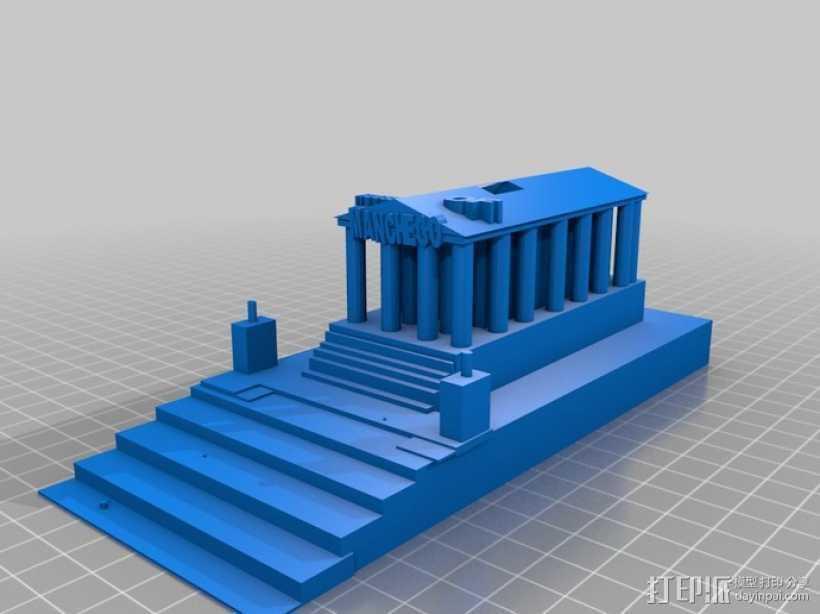 西班牙曼切戈 格伦埃林公共图书馆 3D打印模型渲染图