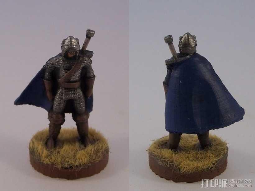 巨剑 战士 3D打印模型渲染图