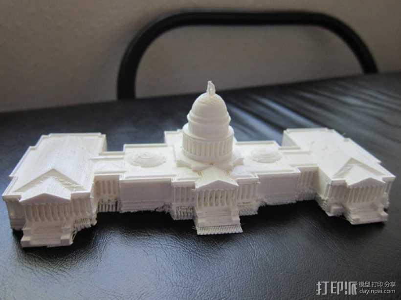 美国国会大厦 3D打印模型渲染图