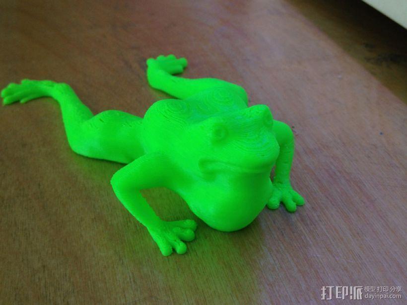 青蛙 3D打印模型渲染图