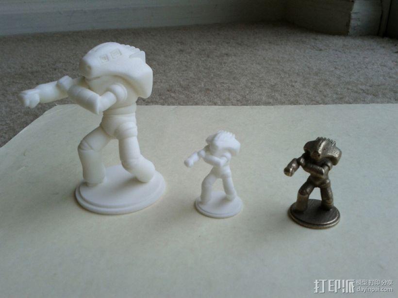 战斗兵团 3D打印模型渲染图