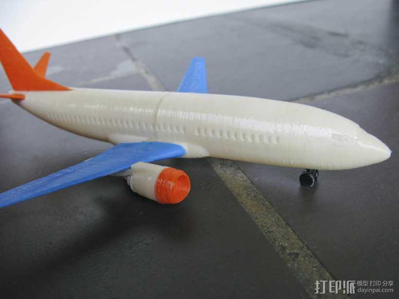 波音飞机737 - 300 3D打印模型渲染图