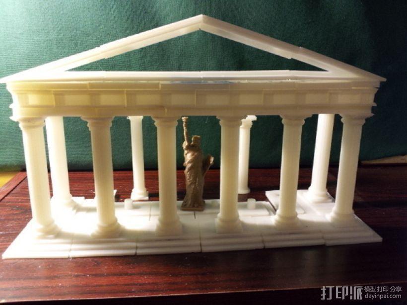 多立克柱式 希腊罗马神殿 3D打印模型渲染图