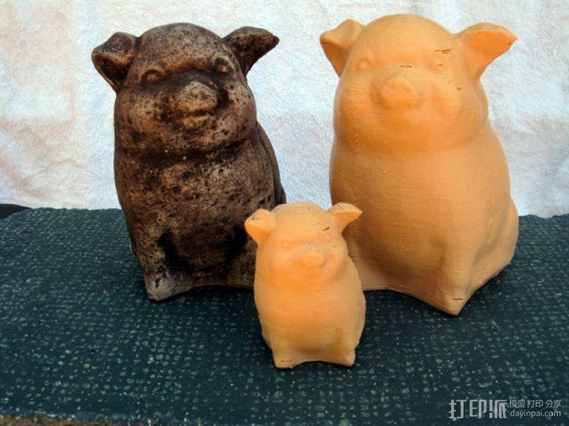 幸运猪 3D打印模型渲染图