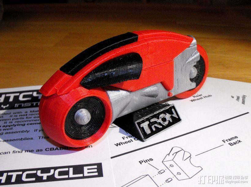 Lightcycle 光速摩托车 3D打印模型渲染图