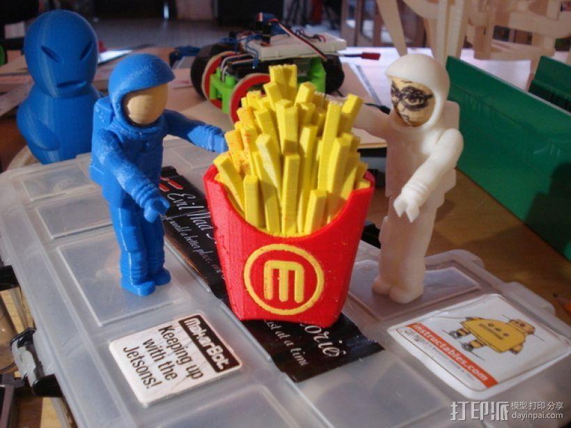 薯条  3D打印模型渲染图
