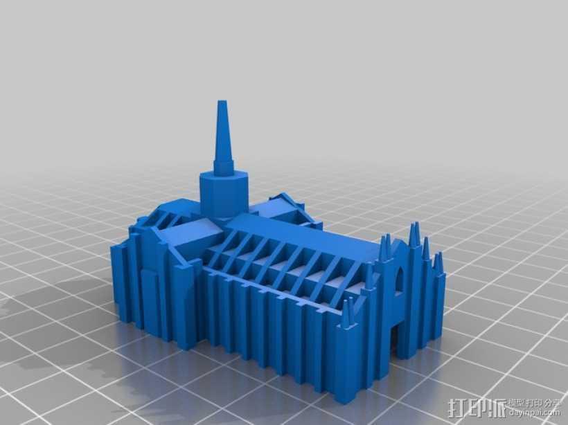 米兰大教堂 3D打印模型渲染图