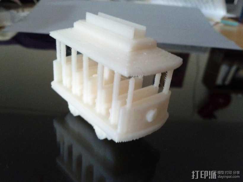 迷你电车 3D打印模型渲染图