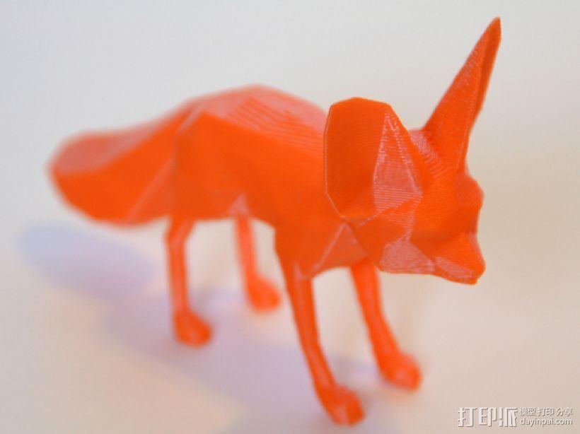 耳廓狐  3D打印模型渲染图