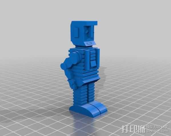 马文 机器人 3D打印模型渲染图