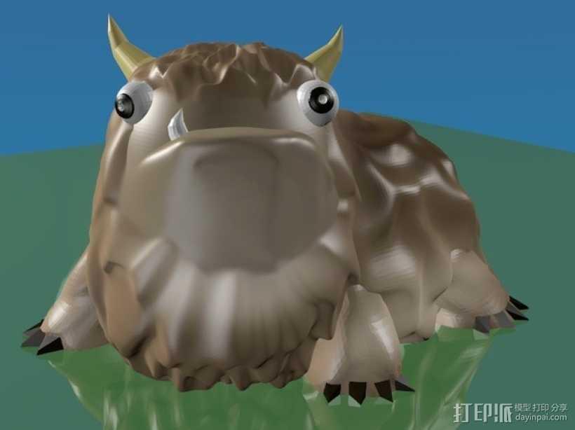 Alot 小怪兽 3D打印模型渲染图