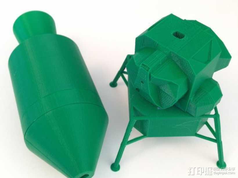 阿波罗计划:载人飞船 3D打印模型渲染图