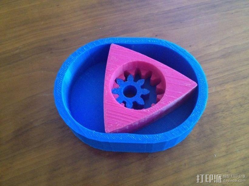 转子发动机 3D打印模型渲染图