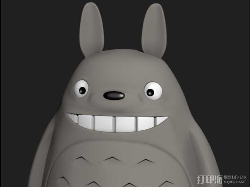 龙猫 3D打印模型渲染图
