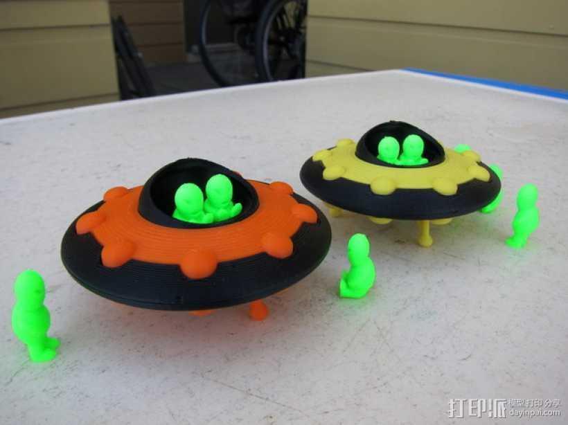 外星人 飞碟 3D打印模型渲染图