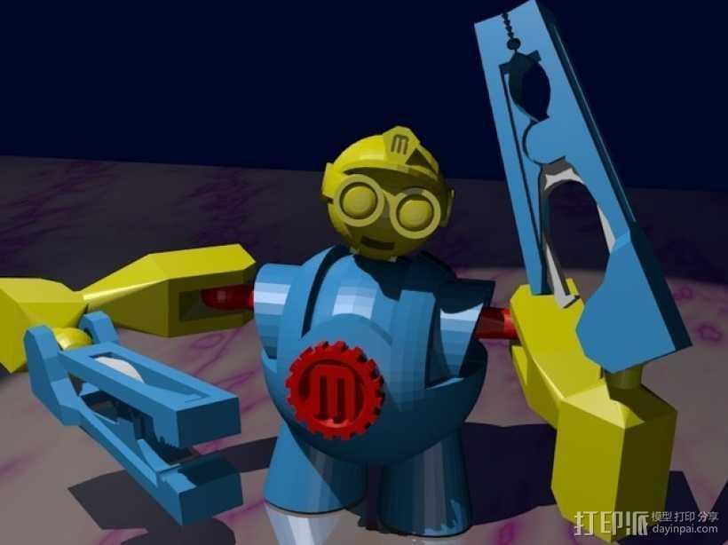 Makerbot机器人 3D打印模型渲染图