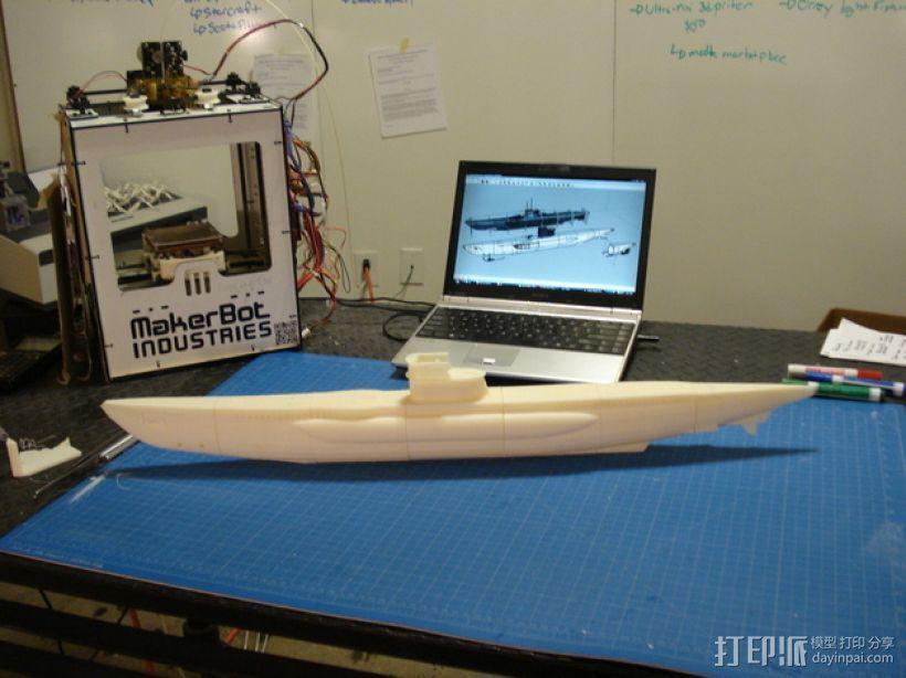 U型潜水艇 3D打印模型渲染图