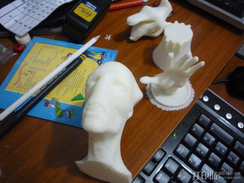 外星人头像 3D打印模型渲染图