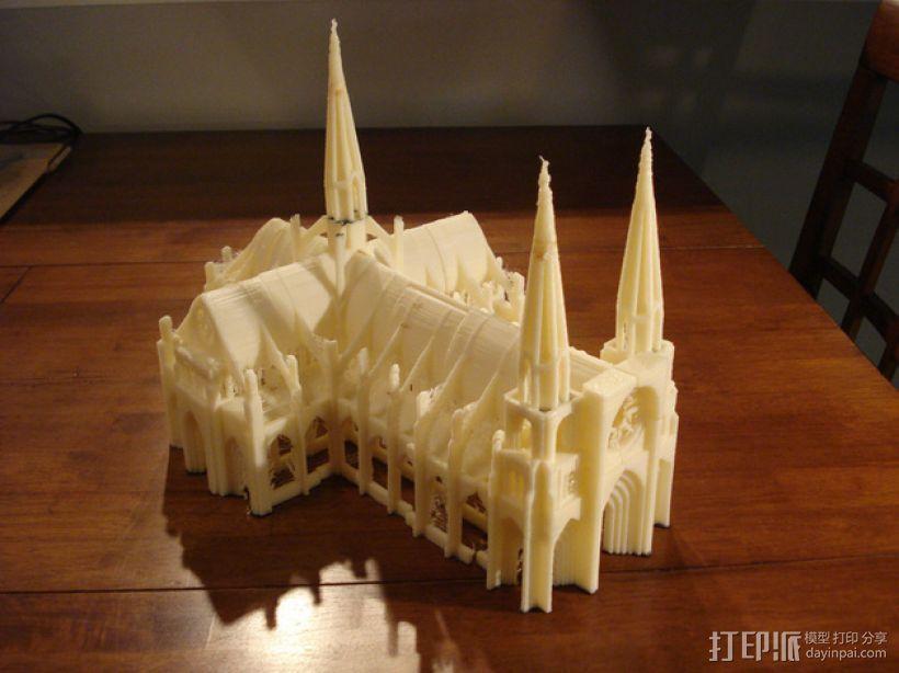 哥特式大教堂 3D打印模型渲染图