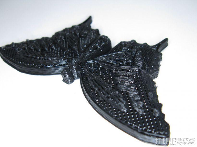 蝴蝶 装饰品 3D打印模型渲染图