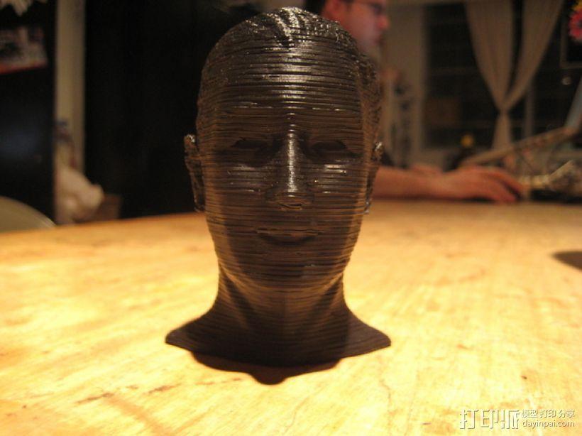 沃特·迪斯尼 头像 3D打印模型渲染图