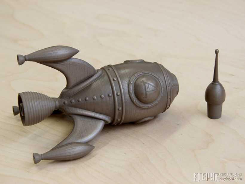 火箭船 3D打印模型渲染图