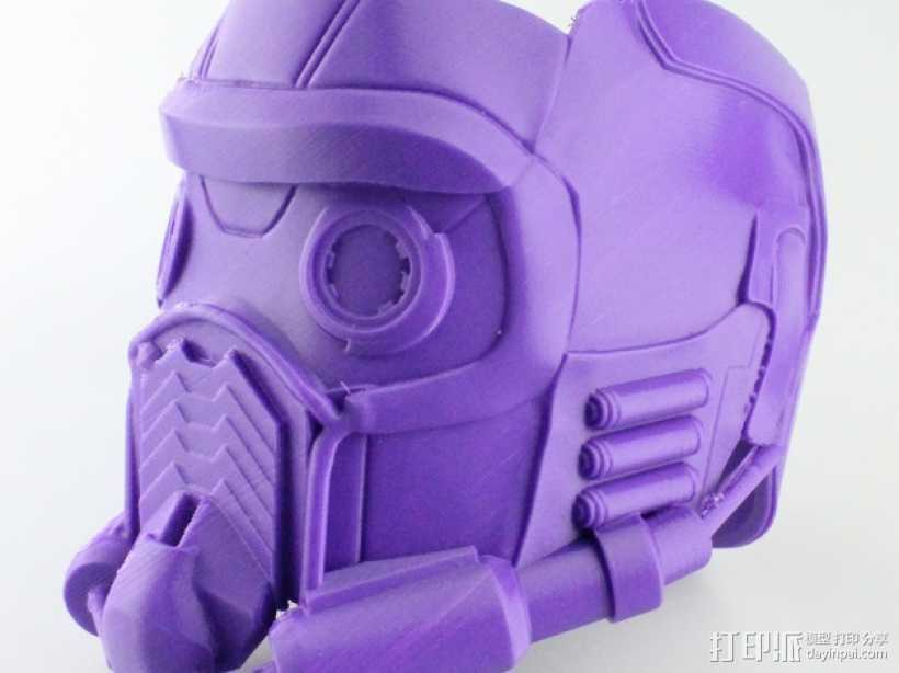 星爵 头盔 3D打印模型渲染图