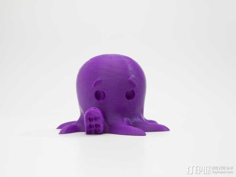 章鱼 玩偶 3D打印模型渲染图