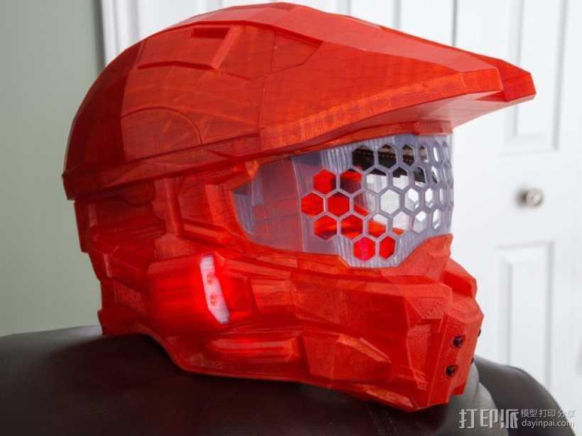 《光晕(halo)》头盔 3D打印模型渲染图