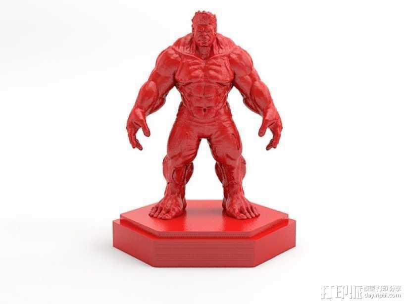 绿巨人浩克 Hulk 3D打印模型渲染图