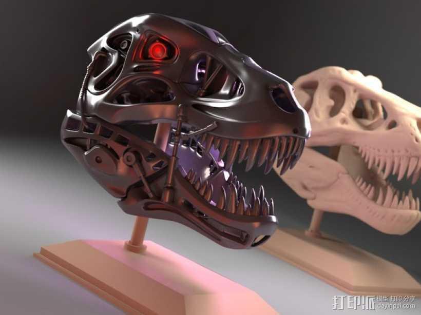 会发光的霸王龙 3D打印模型渲染图