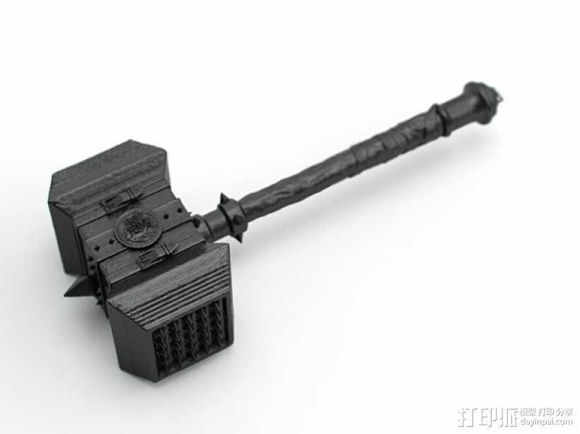 《魔兽争霸》 锤子 3D打印模型渲染图
