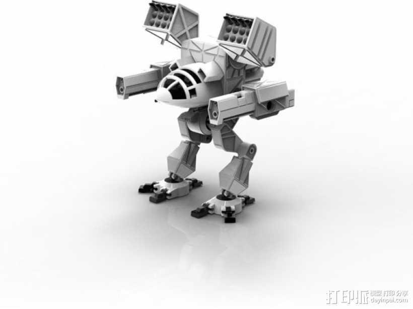 Mad Cat MKII 装甲机器人 3D打印模型渲染图
