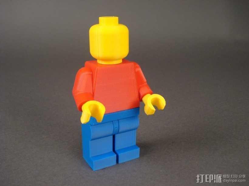 乐高人偶 3D打印模型渲染图