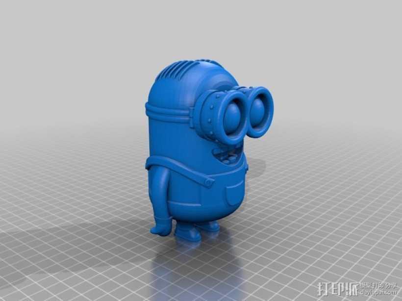 小黄人 戴夫 3D打印模型渲染图