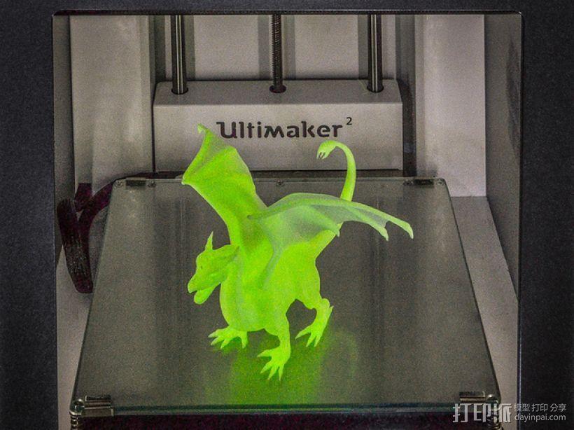 飞龙 3D打印模型渲染图