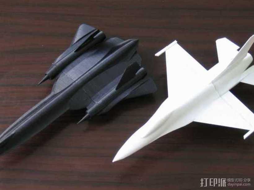 F16战斗机 3D打印模型渲染图