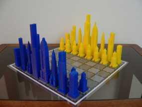 摩天大楼 象棋棋子
