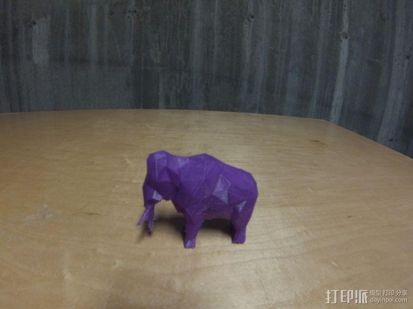 低面数猛犸象 3D打印模型渲染图