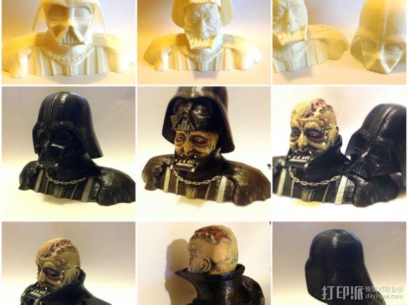 黑武士 半身像 3D打印模型渲染图