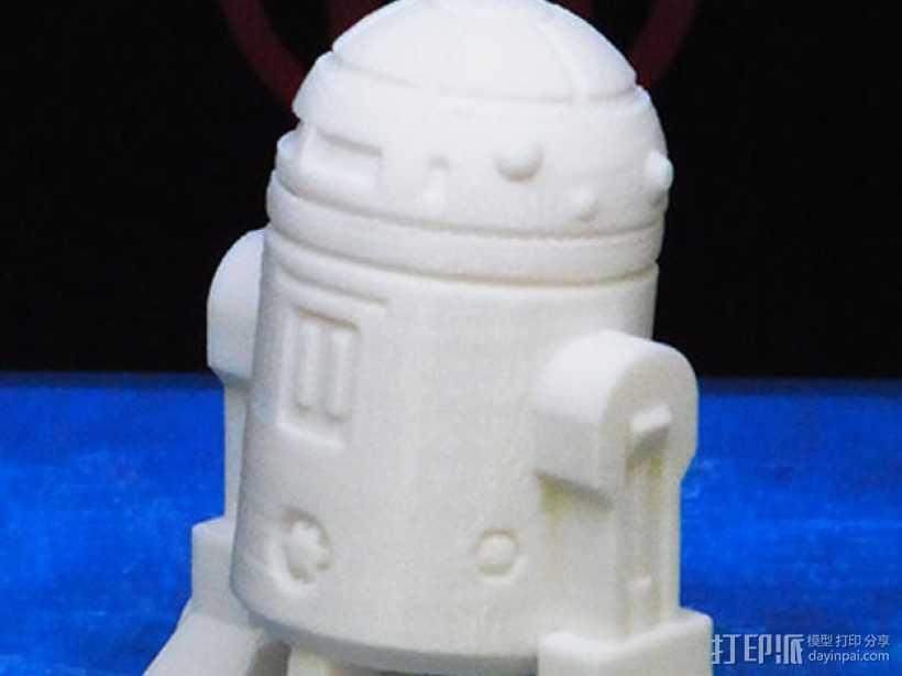 《星球大战》R2D2机器人 3D打印模型渲染图