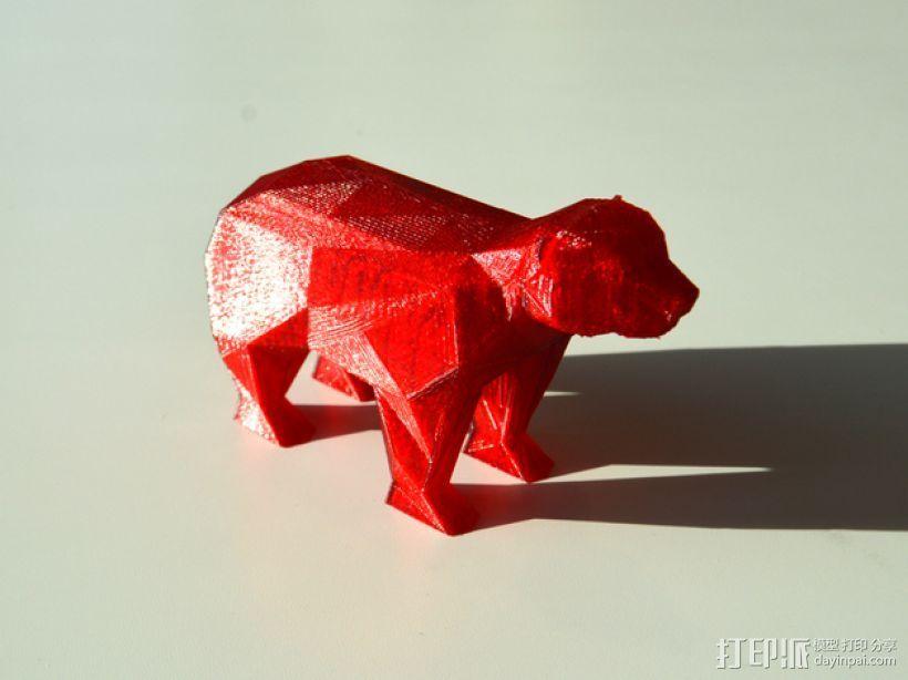 低面数 熊 3D打印模型渲染图