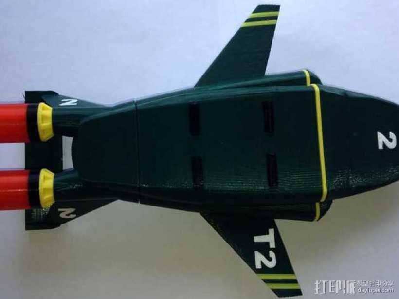 雷鸟 飞行器 3D打印模型渲染图